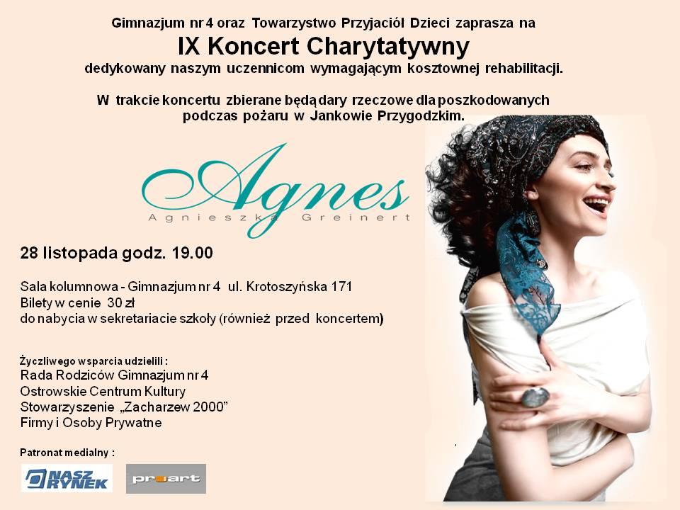 IX Koncert charytatywny - Plakat